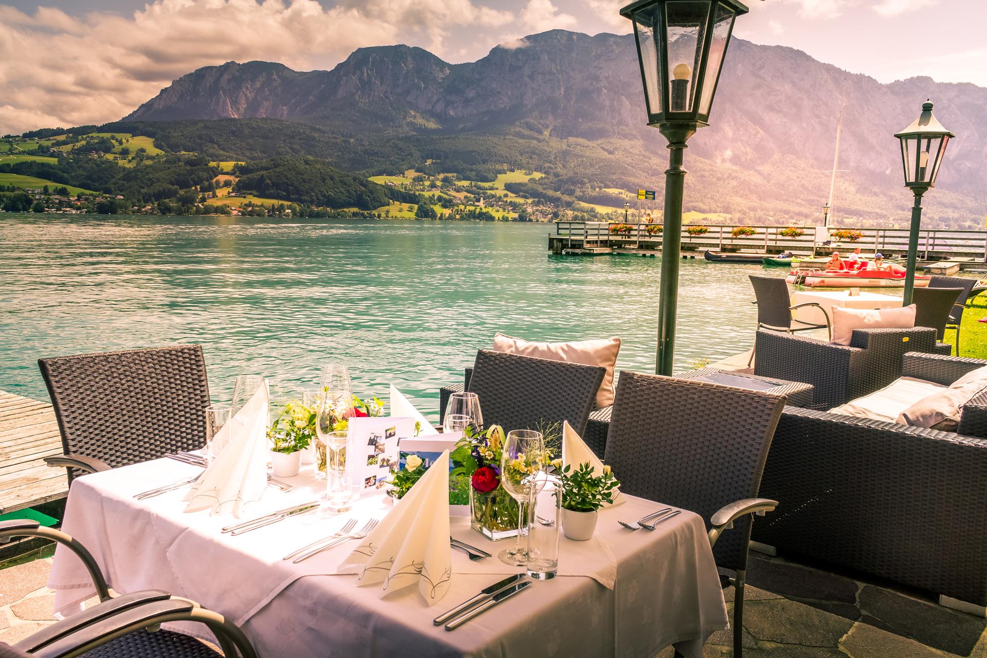 Genuss am See - Speisen mit Seeblick im Urlaub